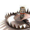 bear trap with money as bait