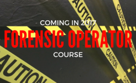 forensic operator course