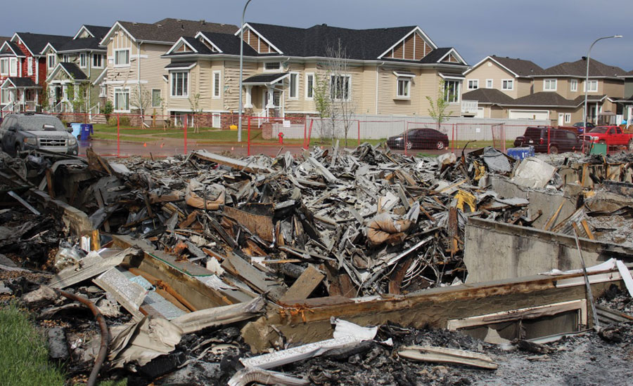 The remnants of a home destroyed by the Fort McMurray fire.