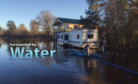 Water and flood damage disaster cleanup