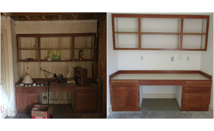 Cabinets before & after.
