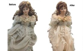 Doll Before and after restoration