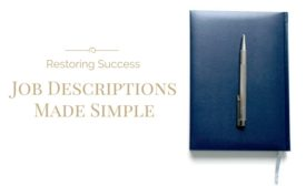 restoring success job description