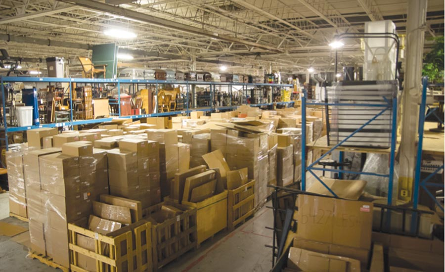 Proper packing and warehousing minimizes damage.