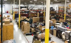 A high-up look at just a small part of this franchise's 50,000 square foot facility.