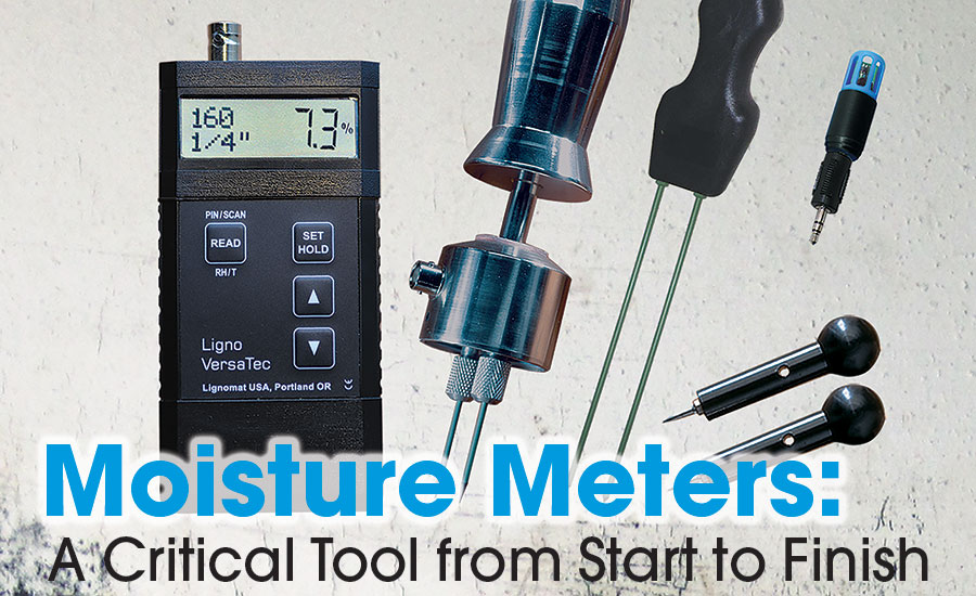 pinless meter and a thermo-hygrometer