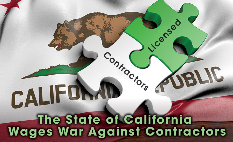 The State of California Wages War Against Contractors