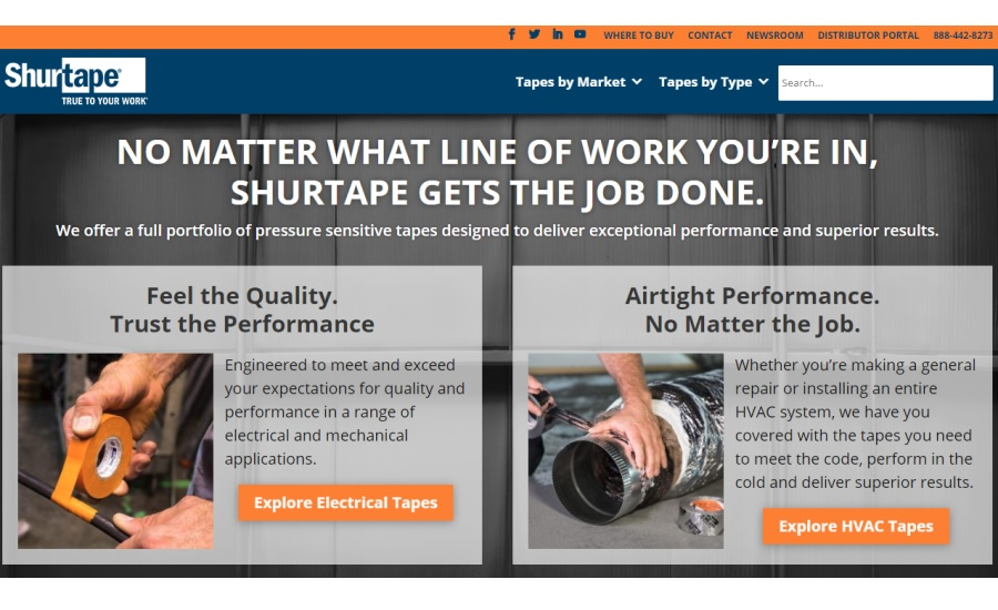 shurtape website