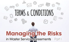 Managing risks in service agreements