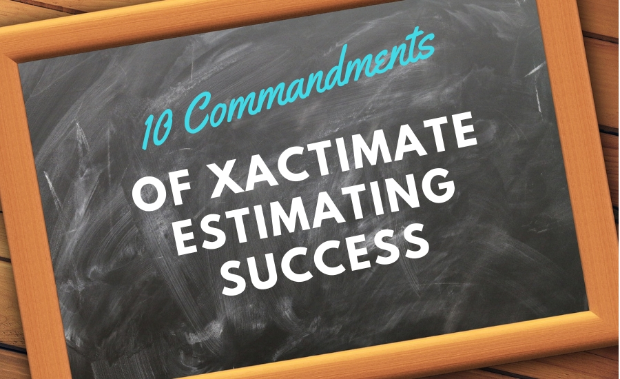 xactimate commandments