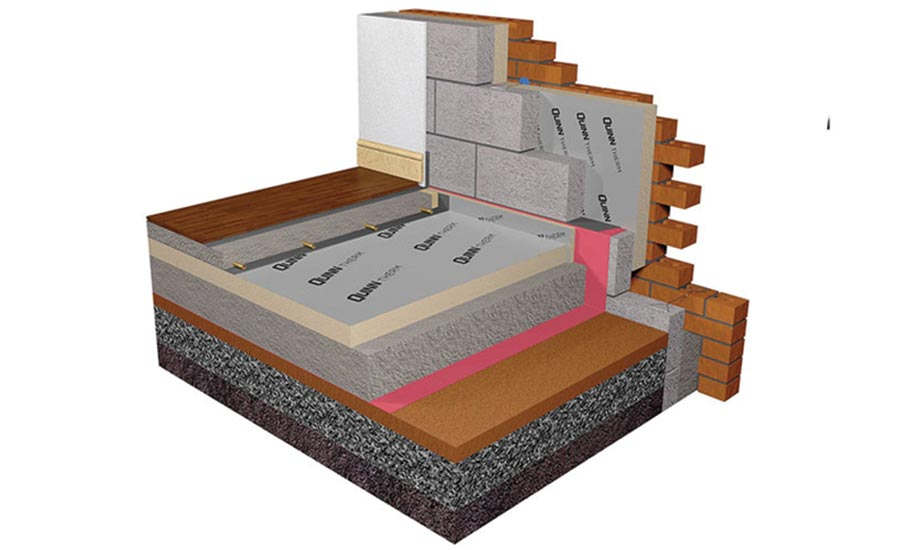 Solid ground floor: insulate above groundbearing slab