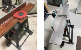 Woodworking tools after dry ice blasting