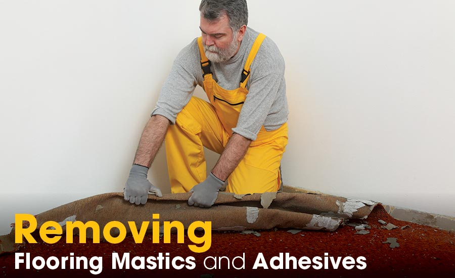 Removing flooring adhesives.