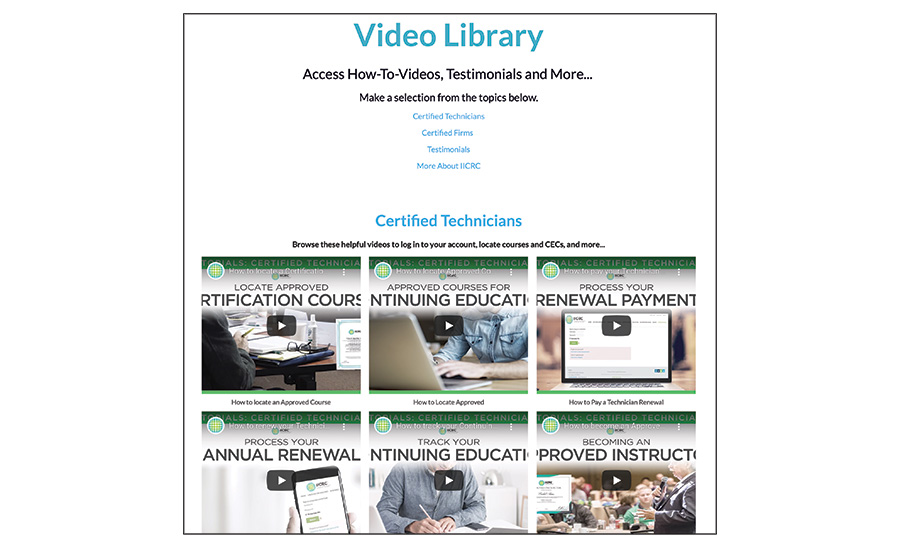 IICRC Video Library
