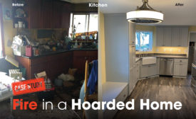 Fire in a hoarded home