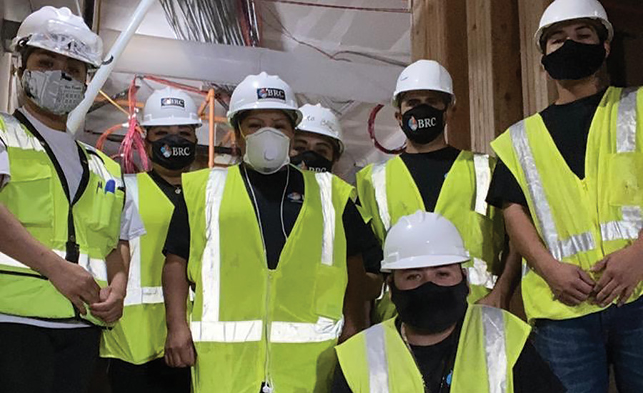 group of people wearing ppe