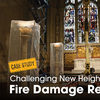 smoke damaged cathedral restoration
