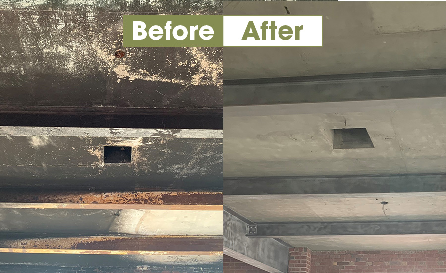 before and after cleaning smoke damage