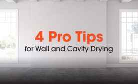 wall cavity drying