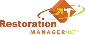 restoration management logo mobile app