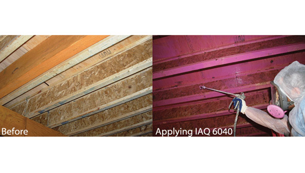spraying iaq 6040 wood