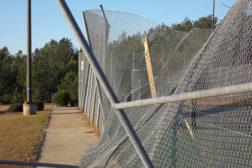 fence broken high school