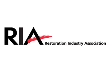 ria restoration industry association logo black red