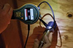 moisture meter testing drying