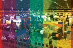 show floor rainbow colors
