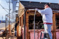 man working restoration