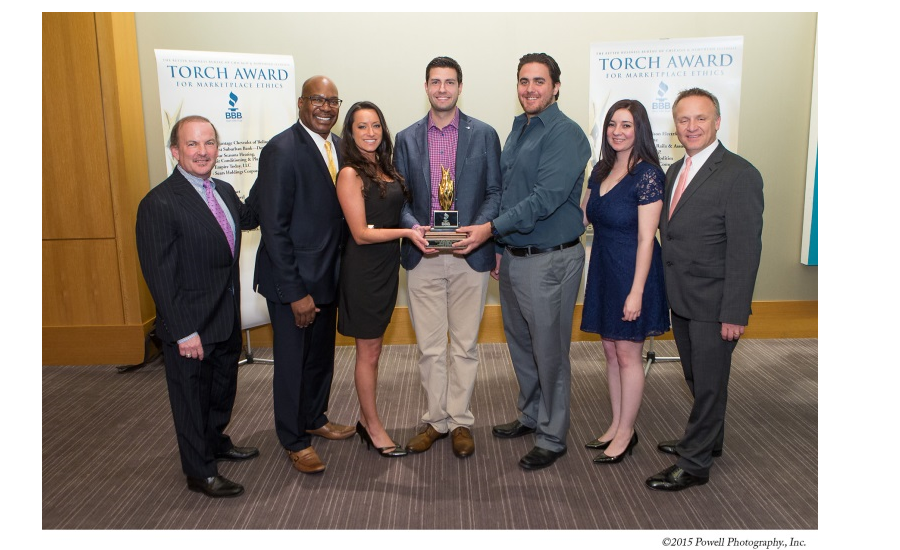 a3e47f8dc67 2016 Torch Award recognizes company s commitment to ethics   core values. BBB  award