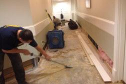 water damage floor restoration