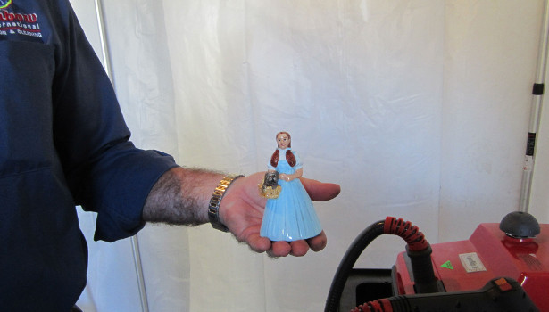 Dorthy figurine cleaned blue