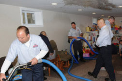rainbow workers flooded basement cleanup