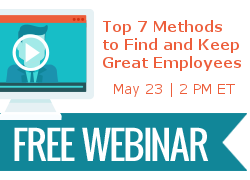 Top 7 Methods to Find and Keep Great Employees webinar