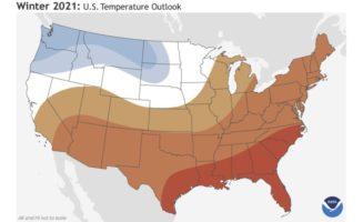 Winter 2021: U.S. Temperature Outlook