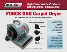 Inline Force One Centrifugal Air Mover W/GFCI